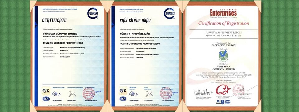 ISO & CERTIFICATE